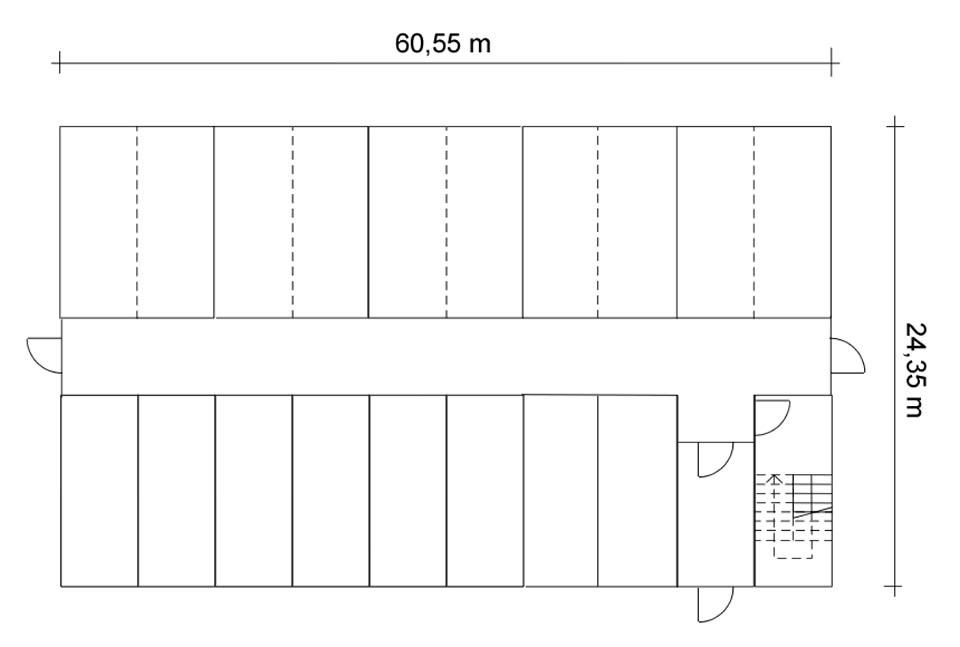 Block mit 20 Containern, um Mittelflur angeordnet. An den beiden Flurenden befinden sich Notausgänge. Im manchen Beispielen wurde der Block erweitert auf 30 bzw. 40 Container, bzw. verkleinert auf 10 Container. Die Zahlen aus allen oben genanten Beispielen ergeben knapp 3700 Wohnplätze im zentralen Bereich zwischen Gleisdreieck und Reichstag. Mit etwas Phantasie lassen sich leicht noch weitere geeignete Orte in der Innenstadt finden.