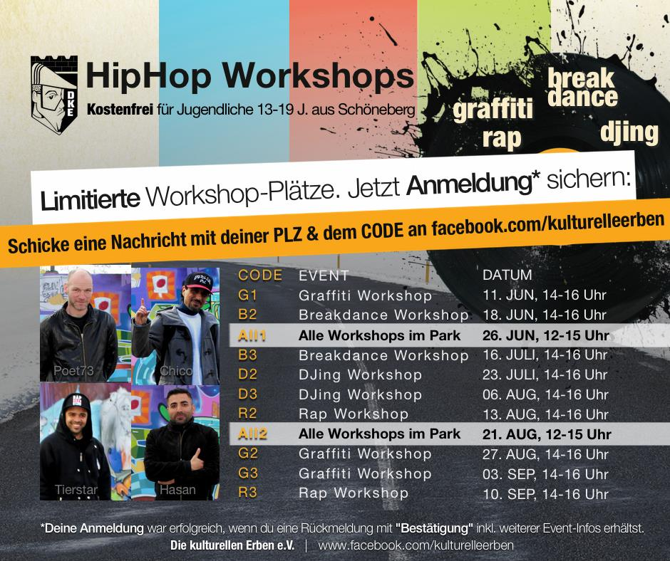 HipHop Workshops in Schöneberg