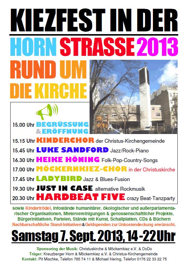 Das Hornstrassenfest-Plakat
