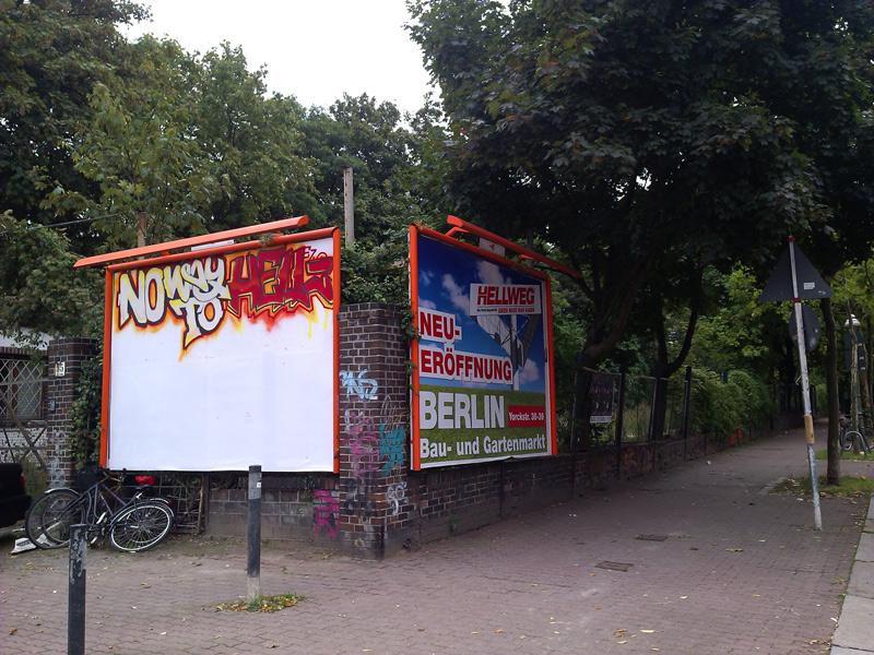 No Way to Hell, an der Ecke Bautzener/Yorckstraße