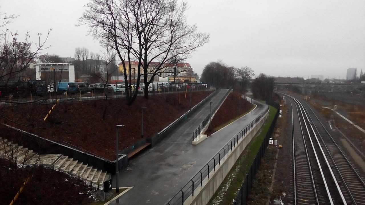 Blick von der Kolonnenbrücke nach Norden