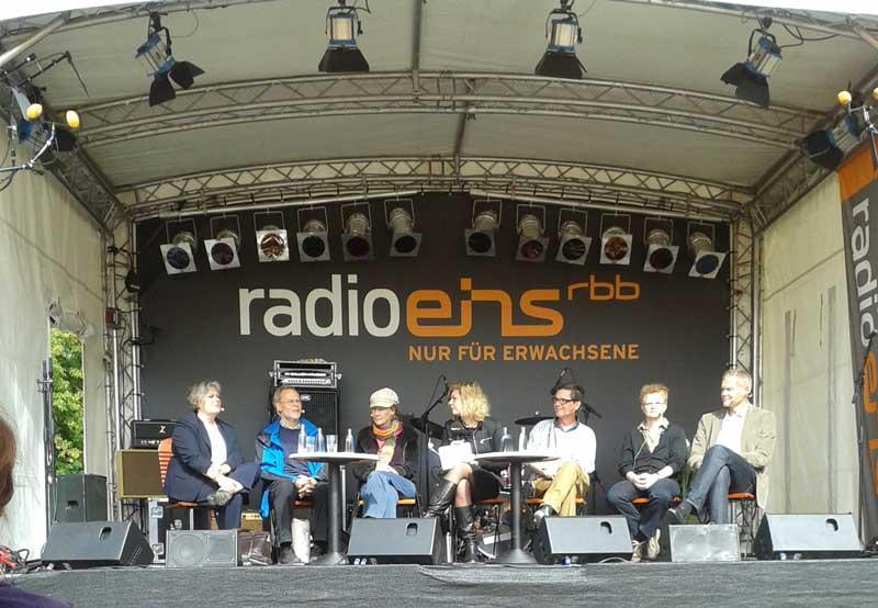 Die Parkdiskussion auf der Bühne von Radio1 im jahr 2013