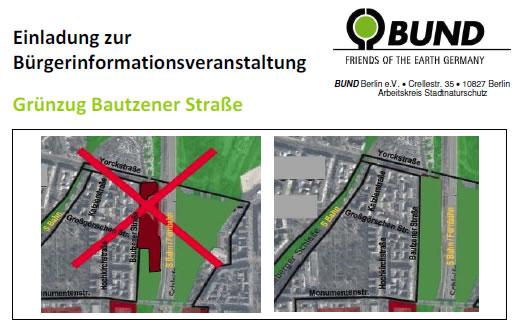 Einladung des BUND zur Veranstaltung Bautzener Brache am 28. 11. 2012