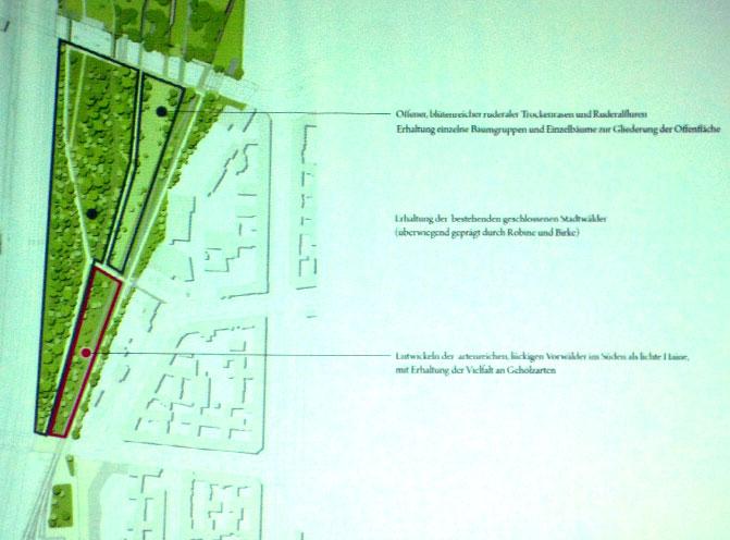 Ausschnitt Flaschenhals mit der Planung von Atelier Loidl