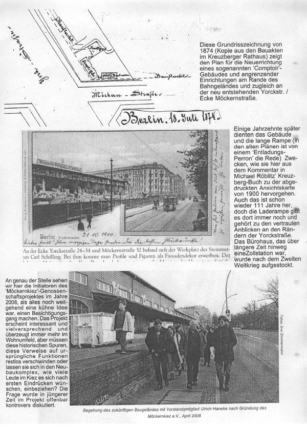 Dokumente zum Zollpackhof, 1874, 1900 und 2008, von Jürgen Enkemann