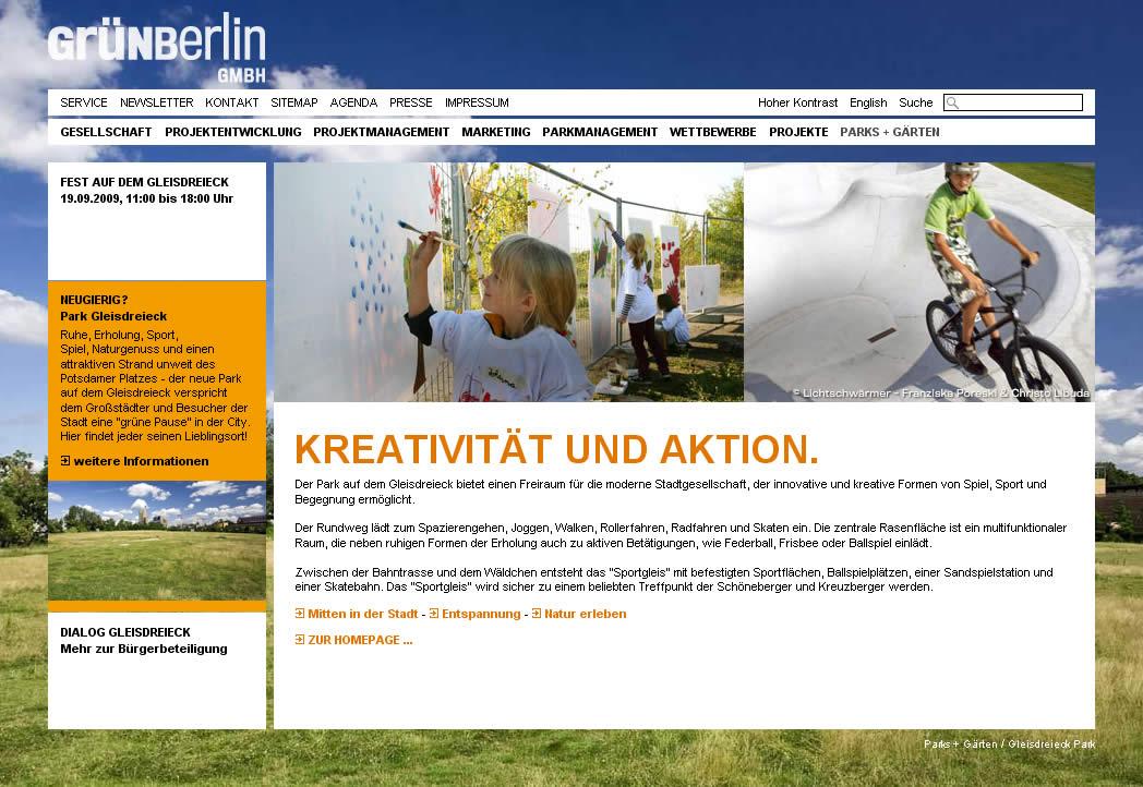 Kreativität und Aktion, Screenshot 18.09.09