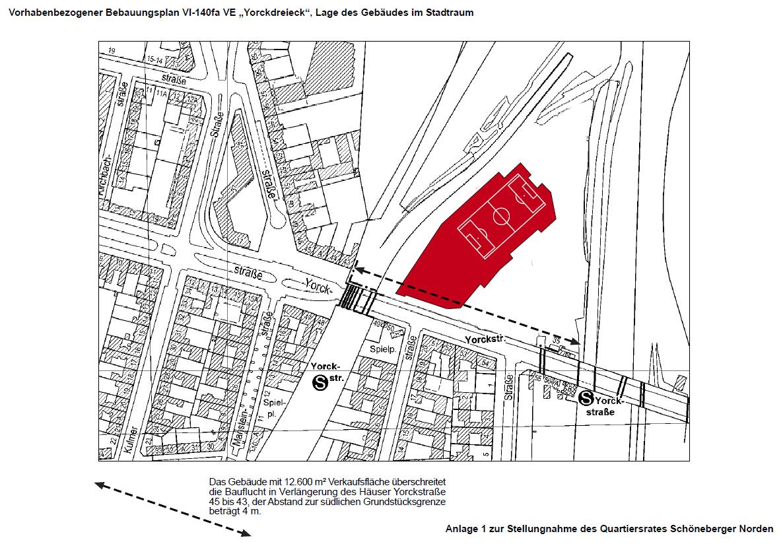 Lageplan 1 zur Stellungnahme des QR Schöneberger Norden