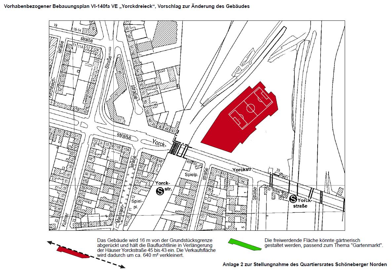 Lageplan 2 zur Stellungnahme des QR Schöneberger Norden