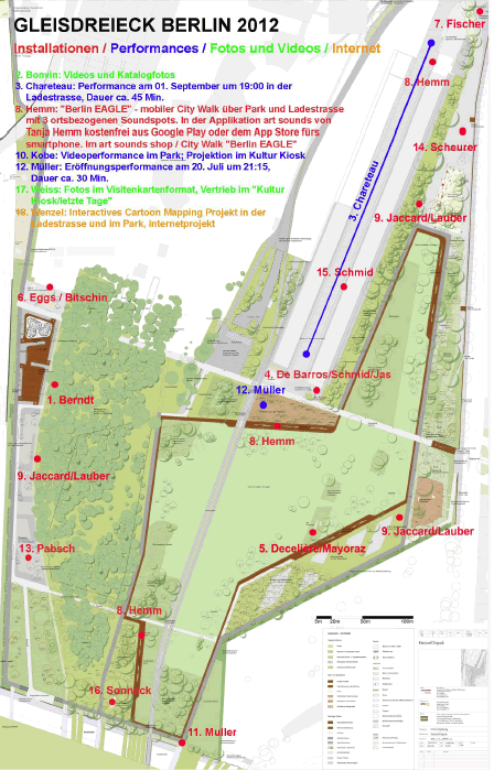 Lageplan derAusstellung Gleisdreieck Berlin 2012