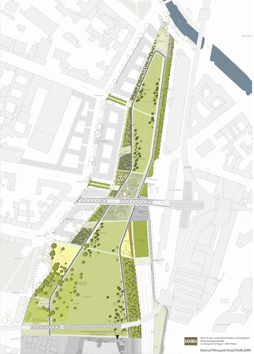 """Entwurf """"Westpark"""" Atelier Loidl Juni 2009"""