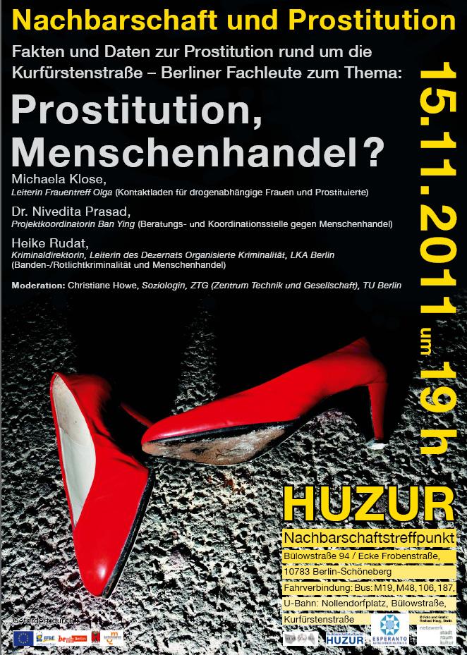 Veranstaltungsplakat Nachbarschaft und Prostitution