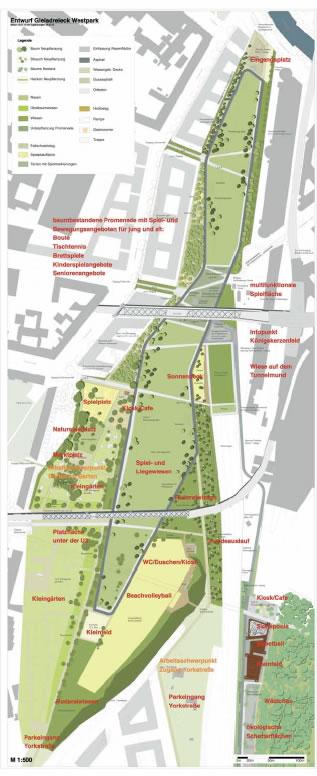 Der aktuelle Plan für den Westpark, Stand 18. 08. 2010