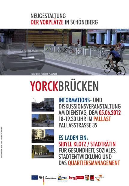 Einladungsflyer Infoveranstaltung Yorckbrücken