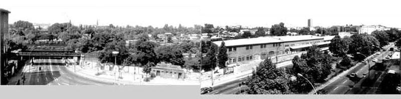 Zollpackhof und Yorckbrücken, Aufnahme aus den 80er Jahren